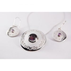 AMETHYST STERLING SILVER SET