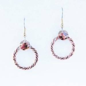 Copper plaited earrings