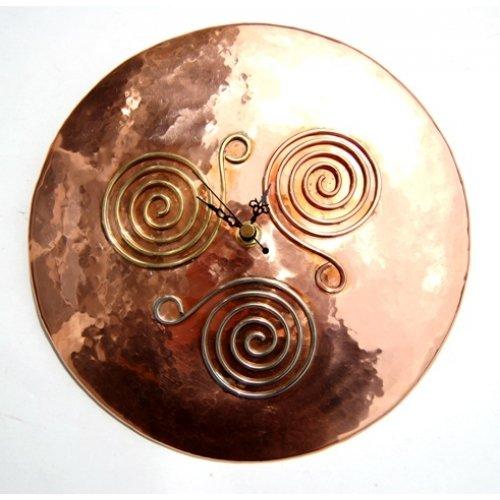 Copper Triscle Clock