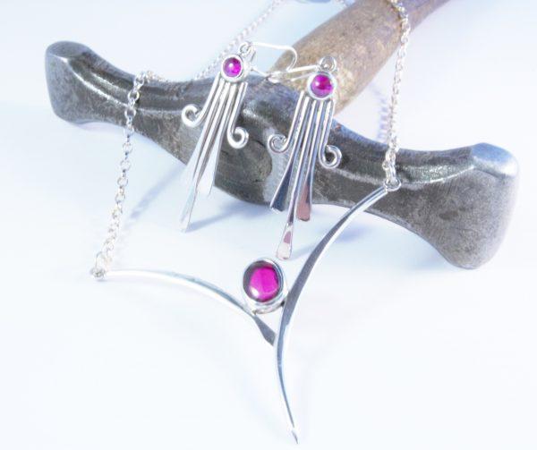 Garnet Sterling Silver Set