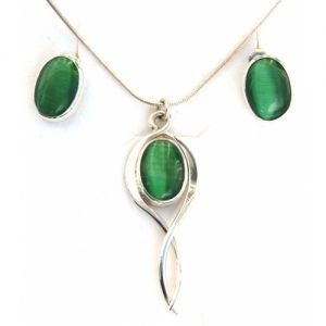GREEN TIGERS EYE SET