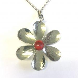 Red Flower Pendant