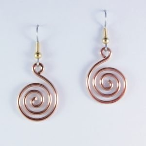 Spiral of Life copper earrings