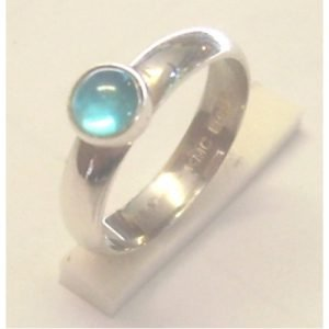 SYNTHETIC AQUAMARINE RING