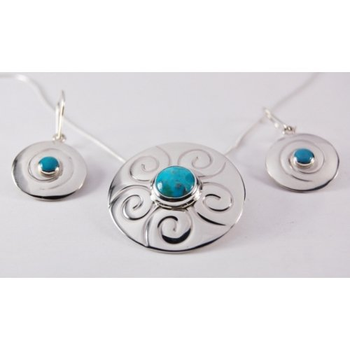 TURQUOISE STERLING SILVER SET